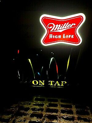 $324.50 • Buy Vintage Early Miller High Life Beer Motion Bouncing Ball Light Sign Bar Man Cave