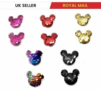 £2.12 • Buy Micky Shaped Cute Hair Clips Metal Babies Snap Barrettes Sparkly Hairpin Sliders