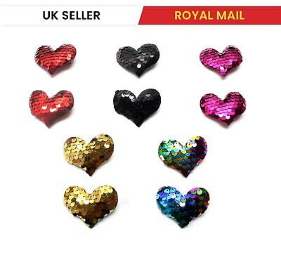 £2.12 • Buy 2X Heart Shaped Cute Hair Clips Metal Snap Baby Barrettes Sparkly HairPins UK