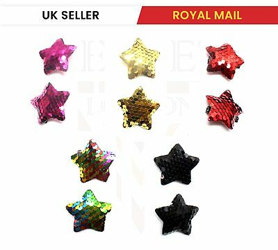 £2.12 • Buy 2x Star Shaped Cute Hair Clips Metal Snap Barrettes Babies Sparkly Hairpins UK