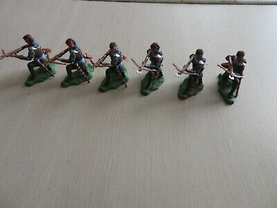 £6.50 • Buy 1/32 Plastic Soldiers Britains Swoppet Medieval Wor Crossbowmen X6 Complete Figs