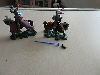 £9.50 • Buy Old 1/32 Plastic Soldiers Britains Swoppet Figures Mounted Medieval Wor Knights