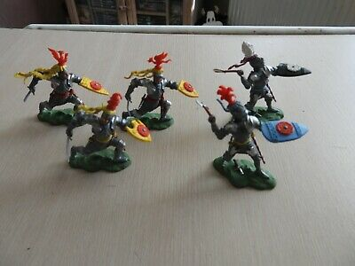£20.80 • Buy Old 1/32 Plastic Soldiers Britains Swoppet Medieval Wor Foot Knights X5 Figures