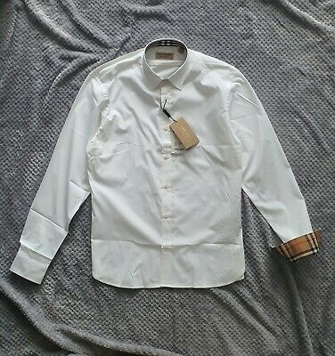 $132.75 • Buy Genuine Brand NEW BURBERRY Men's Long Sleeve Shirt White Colour With Tags