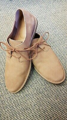 £8.50 • Buy Clarks Shoes Baltimore Lace Tan Suede Mens Size 44 9.5 Wedding Party Summer