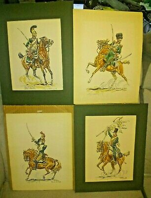 $300 • Buy Lot Of Four Eugene Leliepvre Watercolor Gouache Knight Italy France Early 1800's