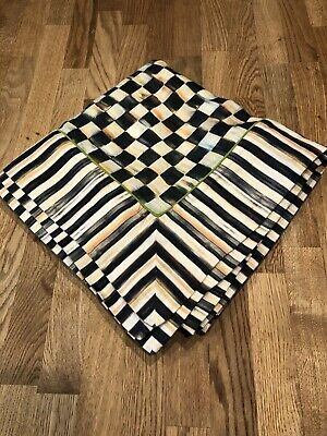 $320 • Buy MacKenzie Childs Table Topper Courtly Check Courtly Stripe 54 X 54 Tablecloth