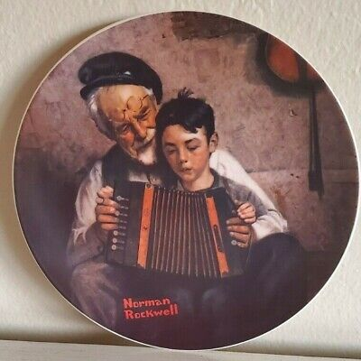$ CDN15.74 • Buy Norman 1981 Rockwell   The Music Maker   By Edwin Knowles Decorative Plate