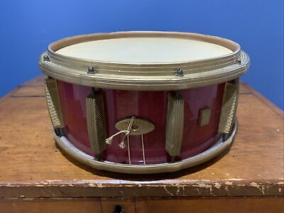 $49.99 • Buy 1960's VINTAGE MASTRO RED SPARKLE 13  PLASTIC SNARE DRUM By MACCAFERRI