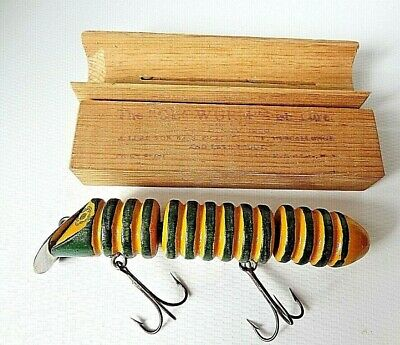 $ CDN692.37 • Buy Vintage The Glowurm Fishing Lure Wood With Box Almost 100 Years Old