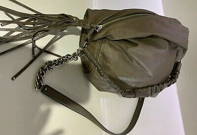 AU49 • Buy Large Oroton Fortuna Leather Taupe/brown Handbag With Silver Hardware And Chain