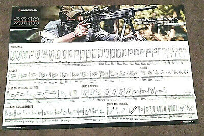$2.23 • Buy Magpul 2018 Accessories Poster Magazines And  Pmag, Sights, Other Parts Pictured