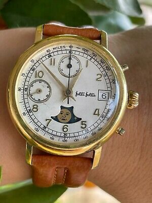 $ CDN434.40 • Buy VINTAGE CHRONOGRAPH MOONPHASE WATCH VALJOUX 7768 MENS 36.5mm SWISS MADE SERVICED