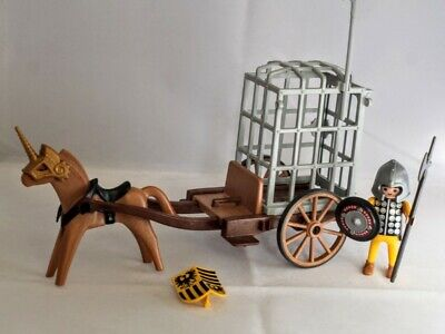 £9.99 • Buy Playmobil HORSE DRAWN PRISONER CAGE Medieval Toy Set Figure Knights (SPARES)