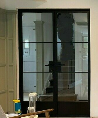 £1950 • Buy 'Crittall' Design Steel Doors W1385 H2075 Locking Handles, Delivery Possible
