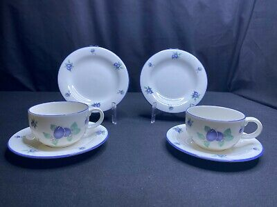 £20 • Buy A Pair Of Royal Doulton Everyday Blueberry TC 1204 Cups Saucers & Plates Perfect