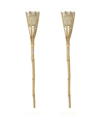 £12.99 • Buy 2pcs Garden Bamboo Torch With Citronella Candle Garden Patio Candle Light