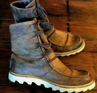 $48.99 • Buy SOREL Mad Mens Distressed Leather Boots Mens 13