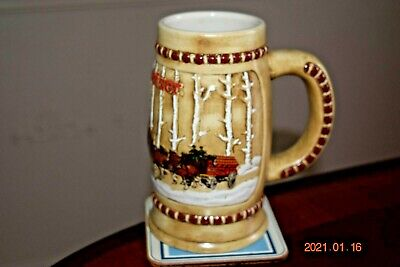 $ CDN74.67 • Buy 1981 Budweiser  Snowy Woodlands  Holiday Series Stein, Clydesdales, Mint