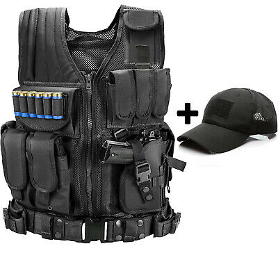 $31.99 • Buy Military Army Tactical Vest Gun Holster Police Molle Combat Assault Hunting Gear