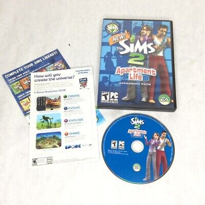 £7.24 • Buy Sims 2: Apartment Life Expansion Pack (PC, 2008) NO Manual