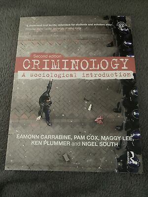 £9 • Buy Criminology: A Sociological Introduction By Pam Cox, Maggy Lee, Ken Plummer,...
