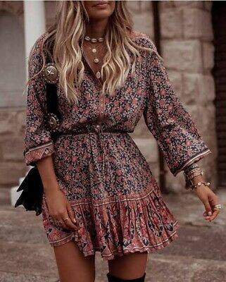 AU65 • Buy SPELL & THE GYPSY COLLECTIVE Size S Small Jasmine Play Dress