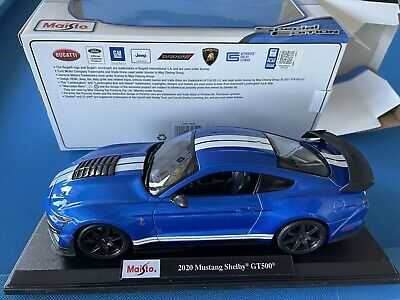 AU53.15 • Buy Maisto 2020 Ford Shelby GT500 Mustang Die Cast Car Model 1:18 Blue
