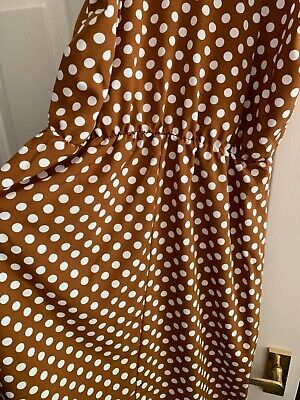 £7 • Buy Ladies Polka Dot Dress, Excellent Condition Size 12