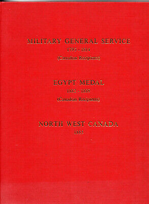 £12.95 • Buy Medal Rolls To Canadians:mgs 1793-1814,egypt Medal 1882-89,n.w.canada Medal 1885