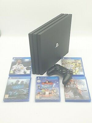 AU448.43 • Buy Sony PlayStation 4 PS4 Pro Black 1TB + Controller + 5 Games Excellent Condition