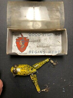 $ CDN346.18 • Buy Vintage Paw Paw Wotta Frog Lure In Box Near Mint!  Antique Plug Fishing  Tackle