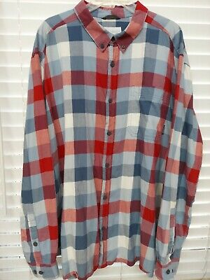 $16.49 • Buy Columbia XXL Shirt Red Gray Cotton Flannel Button Front Long Sleeve Pocket