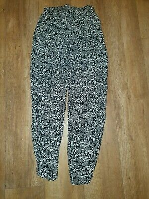 £0.99 • Buy Women's Atmosphere Black/white Aztec Patterned Trousers.....Size 10/euro 38