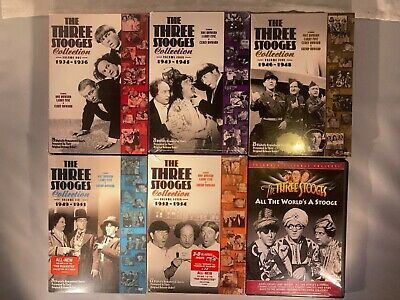 £15.99 • Buy The Three Stooges Collection- Vol.1,4,5,6&7- BRAND NEW+All The World's A Stooge