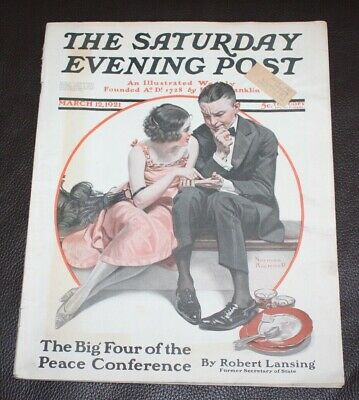 $ CDN18.25 • Buy The Saturday Evening Post | March 12, 1921 Norman Rockwell HG Wells -- Complete