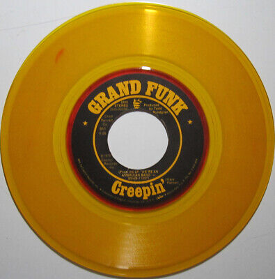 £5.08 • Buy GRAND FUNK RAILROAD  We're An American Band  45 Gold Vinyl With Red Colored Rim