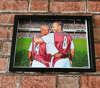 £3.59 • Buy Arsenal Ian  Wright And Thierry Henry Football Picture Poster Print Souvenir