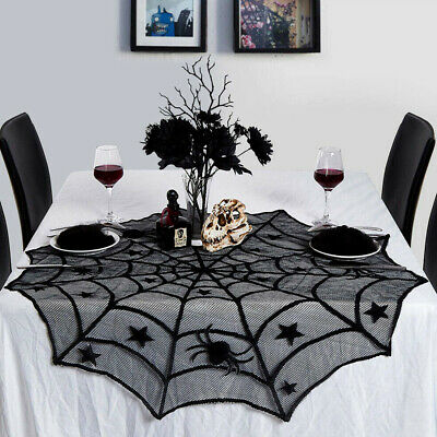 £3.99 • Buy Halloween Table Cloth Lace Creepy Cover Window Door Net Party Dress Decoration