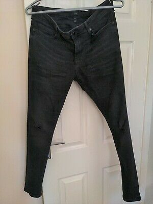 £12 • Buy River Island Spray On Skinny Ripped Jeans 30S