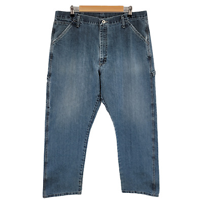 $18.95 • Buy Wrangler Jeans 38x32 Mens Carpenter Straight Distressed Faded Worn Work Pants