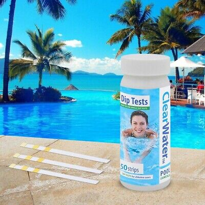 £6.59 • Buy 50x Chlorine Dip Test Strips For Hot Tubs, Lazy Spas And Swimming Pools 1 Bottle