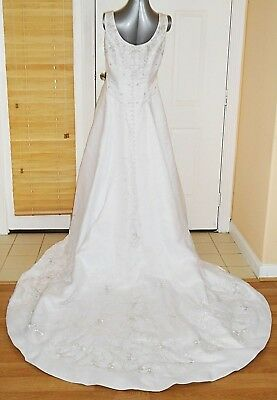 AU108.69 • Buy Allure Bridals Ballroom Duchess Wedding White Dress Beaded Embroidery Gown Cover