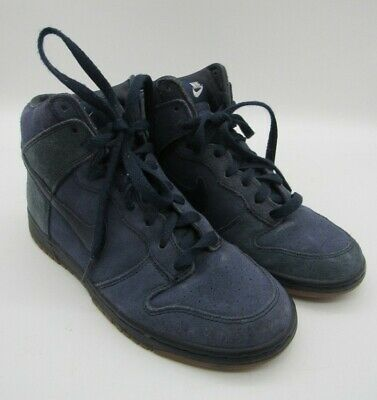 £12.99 • Buy Nike High Top Trainers UK Size 4 Navy Lace Up Shoes A.P.C