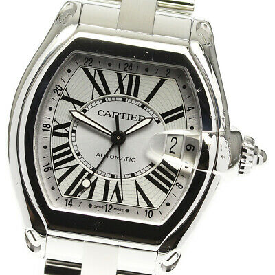 $2598 • Buy CARTIER Roadster LM W62025V3 Date Silver Dial Automatic Men's Watch_627222