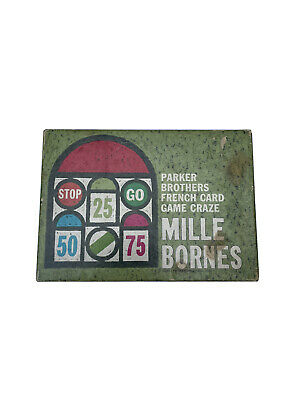 $14.99 • Buy Mille Bornes - Parker Brothers - Vintage French Card Game - 1962With Green Tray