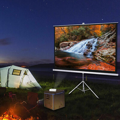 AU199.99 • Buy 120  Portable Projector Screen 4:3 Projection Matte White Foldable Tripod Stand