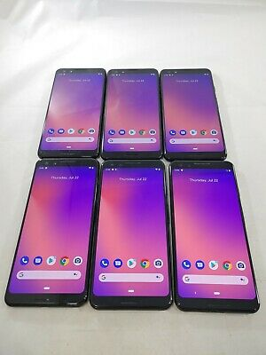 $ CDN86.86 • Buy LOT Of 6 Google Pixel 3 G013A 64/128GB GSM Unlocked Android Smartphone #A349L