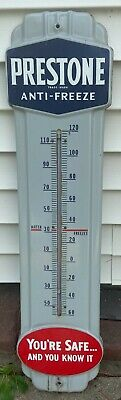 $ CDN502.28 • Buy Old Porcelain Prestone Antifreeze 36  Thermometer- You're Safe. And You Know It.