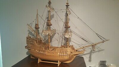 £54.95 • Buy Beautiful Vintage Handmade Matchstick Model Of A Sailing Ship - Crafts
